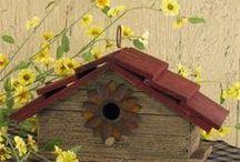 BIRD BATHS, FEEDERS & HOUSES / by MJ Murray