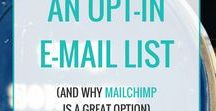 Email List Tips for Bloggers / Tutorials, tips, inspiration, how-to guides, checklists, recommendations to help create, build and grow your email list, including opt-in freebies, info-products, CTAs and more.