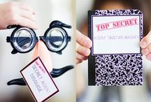 Spy Party - Kid's Birthday Parties / Spy / Secret Agent Party ideas, decorations, printables, party favors, diy crafts, food and inspiration.