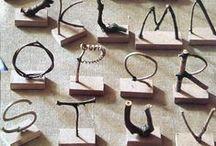 { typography } / typographical hand written, serif + sans serif inspiration