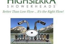 High Sierra Showerheads Made IN USA Great Showers High Pressure Less Water / High Sierra Showerheads Made in the USA. Our showerheads are high pressure but use less water. Try it for yourself. We offer a 30 day money-back guarantee. #BuyAmerican #ConserveWater #MadeinAmerica #MadeinUSA @BuyDirectUSA #green #eco www.highsierrashowerheads.com