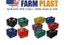 Farm Plast Milk Crates Made in USA / Farm Plast Milk Crates Made in USA #MadeinAmerica #MadeinUSA @BuyDirectUSA #Storage #organize www.milkcratesdirect.com