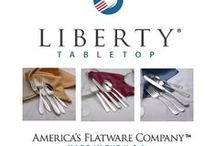 Liberty Tabletop Flatware Made in the USA / Liberty Tabletop manufactures quality 100% American Made 18-10 stainless steel flatware. all of the stainless steel we use in the production of our flatware comes from steel mills right in the U.S.A. Choose from 17 flatware patterns and pricing for every budget. #Flatware #Wedding #Gifts #MadeinUSA #AmericanMade