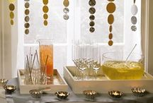 New Year's Eve / New Year's Party ideas, decorations, printables, diy crafts, food and inspiration.