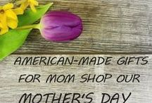 Mother's Day Gifts Made in USA / Give mom the gift of Made in the USA this Mother's Day. Every mom is different and that is why we have a great range of gifts for mom so you can find something special just for her. #BuyAmerican #MothersDay #Mom #Gifts #GiftGuide #MadeinUSA #MothersDay2018 #MadeinAmerica