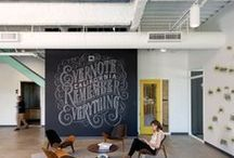 Inspiring Work Spaces / A collection of ideas to create inspiring work spaces--at home or in the office