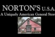 Norton's U.S.A. A Uniquely American General Store / Shop Norton's U.S.A. For: Accessories, Baby, Books & Magazines, Christmas & Holiday Gifts, Cleaning Products, Clothing - Kids, Clothing - Men's, Clothing - Women's,  Easter, Flags & Patriotic Decor, Food and Candy, Gardening, Halloween, Home Goods, Housewares, Pet Supplies, Relay for Life, Soaps, Lotions and Potions, St. Patrick's Day, Stationery, Thanksgiving, Tools, Toys, Travel & Leisure, and Valentine's Day all Made in the USA. www.NortonsUSA.com  / by Buy American for America Made in USA Create Jobs
