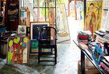 Studio Inspiration / Artist Studio Love