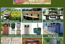 Polly Products Green Prodcuts for a Green World / We are a manufacturer of site furnishings such as picnic tables, park benches and trash receptacles from recycled plastic. These are high quality products using stainless steel fasteners providing maintenance free and long-lasting pleasure. Our manufacturing facility is located in rural central Michigan where our employees take great pride and commitment in the quality products they are responsible for. www.pollyproducts.com
