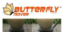 Butterfly Mover Made in USA / The Butterfly Mover Plant Caddy is Made in the USA and designed to keep large plants elevated to protect your deck, patio and floors. Plus it features a unique feature that makes moving your plants easier to. Unlike other plant caddy's the Butterfly Mover features a detachable handle that allows you to move your plants and other items around without having to bend down or stoop over - which is great for you and your back!  #buyamerican #madeinusa  #garden #gardening #outdoors #madeinamerica