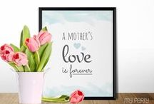 Mother's Day / Mother's Day Party ideas, decorations, printables, gifts, diy crafts, food and inspiration.
