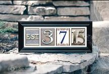 Personalized Artwork / Elegant handcrafted alphabet photography artwork, featuring stunning letters of the alphabet photographed from architectural details around the world and artfully arranged to create the perfect personalized gift for any special occasion!