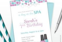 Spa Party - Kid's Birthday Parties / Spa Party ideas, decorations, printables, party favors, diy crafts, food and inspiration.