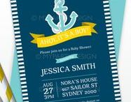Baby Shower - Nautical Theme / Nautical Baby Shower party ideas, printables, decorations party favors, food and inspiration.