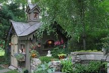 garden sheds and tiny cabins / by Bonnie Keaveny