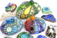 Mosaic Magic / Mosaics in the garden, in windows, in artwork…wherever.