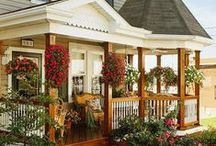 home // curb appeal / I love to get inspired by pinning home exterior ideas, landscaping ideas, porch designs, porch ideas and arrangements, pretty facades, and outdoor painting how-to's. Or even pin ideas for my dream home!