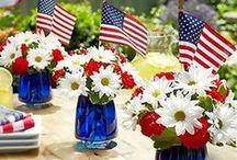 holidays // fourth of july / The Fourth of July is a fun holiday and I like to pin 4th of July party ideas, fourth of July craft ideas and recipes to make it special and festive. Most 4th of July recipes I pin are vegetarian-friendly or substitutes can be replaced to make them so.