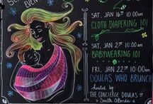 Store Chalkboard Art / The latest and greatest chalk board drawings, events and promotions!