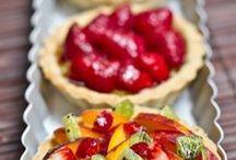 French fruit tarts