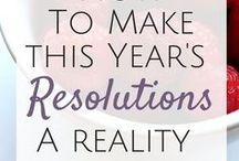 New Years! / Ideas from New Years Eve parties and decor to resolutions and goal setting in the New Year.