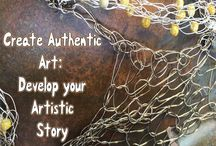 Create Authentic Art: Develop Your Artistic Story July 8 - 14 2018 / My workshop at Hudson River Valley Art Workshops.  Click the image with the workshop title to find more informaton