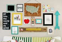 Decorate + Favorite Spaces / Home inspiration, ideas, creative organization, paint and room layouts. Kitchen, bath, living, mudroom, homework area, playroom.