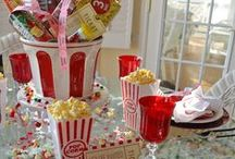 Celebrate + Let's Get Reel / Cue the Top 100 movies and pop some popcorn. This MOVIE PARTY features FOOD ideas and DESSERT table, rockin' ACTIVITIES and party FAVORS. Oscars anyone?