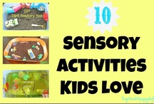 Sensory bins and play for kids