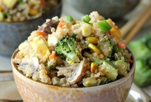 {grain} / Rice, farro, bulghur, barley, couscous, quinoa, etc... / by Anna Clair Miller