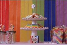 Celebrate + Color Me Rainbow / All the colors of the RAINBOW and more for this beautiful party idea - festive FOOD and DESSERT TABLE ideas, inexpensive FLOWERS and DECOR, fun DIY ACTIVITIES and CRAFTS, along with great party FAVORS.