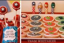 Celebrate + Avengers / Get your superhero on with these AVENGER birthday party FOOD ideas and DESSERT table, hero ACTIVITIES, PRINTABLES suitable for littles and teens and cool party FAVORS.