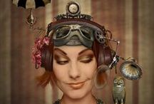 Steampunk Ladies-Portraits / Sans masks. See Steampunk Ladies-Masks for Steampunk Ladies Wearing Masks, Poses and Portraits. / by David M. Merchant