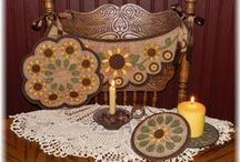 Penny Rug & Candle Mat Patterns / Penny rug & candle mat patterns.