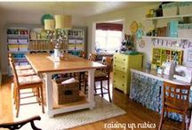 Organized Craft Spaces / by Shelley Berendt