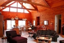 Log Home Interiors / Find great photos of unique and inspiring log homes. Learn to create and decorate your log home, cabin or room at http://www.DecoratorFiles.com/LogHomeDecorating.html