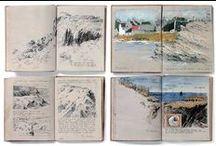 sketches, moleskines, dailyartjournal, etc.
