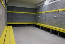 Changing Rooms / As well as toilet partitions we also supply and install partitions, benches and hooks for changing rooms. Ideal for gyms, sports tracks, swimming pools etc