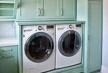 Laundry / Stylish and functional laundry rooms. Easy Laundry storage ideas.