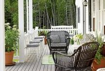 Porches, Patio's, Decks & Front Door / Gorgeous porches, patios, decks and front door curb appeal ideas / by Four Generations One Roof