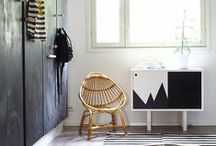 Kids / Black and white kids rooms with diy projects. Scandinavian childrens rooms.