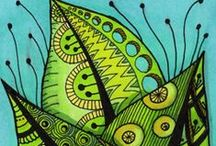 Doodling and Drawing / Tips and Tricks for drawing. Lots of Zentangle patterns and designs.