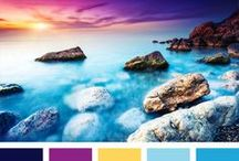 Color Palettes - Part 1 / I love color palettes that display beautiful photography. The palettes can be used for so many things - scrapbooking, card making, art journaling, photo set ups, and home decor.