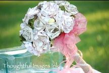 Paper Flowers for Weddings / bouquets, boutonnieres, corsages, centerpieces all from paper flowers