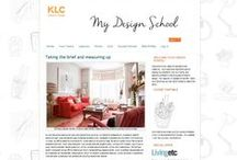 ‎KLC My Design School / A selection of inspirational concept boards by students on the KLC My Design School October 2014 course. My Design School is a brand new, interactive, online course that immerses you in the creative process of designing a room of your choice.