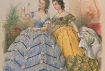 Fashion - 1860 - 1869 / Fashions for women in this era.