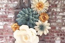 Paper Flower Walls Backdrop and Displays / paper flower walls, paper flower backdrops, paper flower wall art, paper flower wedding backdrops,