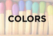 Colors / Red, orange, yellow, green, blue, indigo, violet, rainbow, bright, colorful.