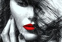 Portraits / Portrait #Art collection Designs by Rafael Salazar, artist from Colombia. COPYRIGHT NOTICE: ALL my art pieces on this website are protected by the U.S. and international copyright laws, all rights reserved. Each image here may not be copied, reproduced, manipulated or used in any way, without written permission of Rafael Salazar.