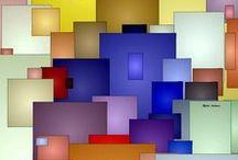 Geometrics / Geometric Art by Rafael Salazar - Colombian Artist Arte Geométrico Rafael Salazar - Artista Colombiano ~ Collection of Geometric Expressionism Artwork by Rafael Salazar